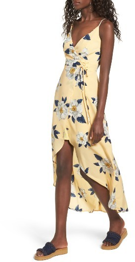 Women's J.o.a. Floral Faux Wrap Slipdress 5