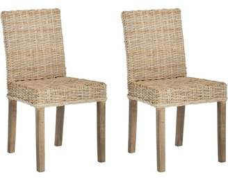 Safavieh Mango Wood Grove Side Chair, Set of 2, Natural Unfinished