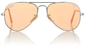 Ray-Ban Men's Aviator Large Metal Sunglasses - Orange