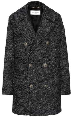 Saint Laurent Wool-blend tweed coat