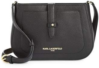 Karl Lagerfeld Paris Mini Leather Crossbody Bag
