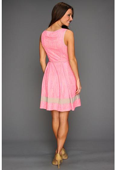 Jessica Simpson Sleeveless Lace Contrast Trim Dress