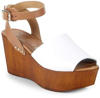 Seychelles Women's Paddle Leather Ankle-Strap Wedge Sandals