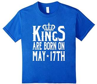 Kings Are Born On May 17th Funny Birthday T-Shirt