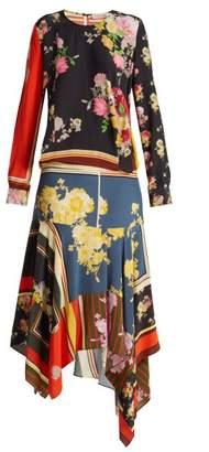 Preen Line Kaia Floral Print Crepe De Chine Dress - Womens - Multi