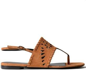 Ermanno Scervino Cut-out Flat Sandals