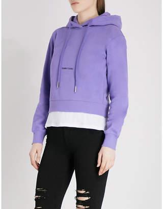 Mo&Co. Damn Young cotton-blend hoody
