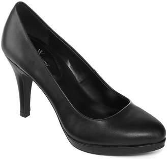 WORTHINGTON Worthington Womens Hula Pumps Pull-on Peep Toe Stiletto Heel
