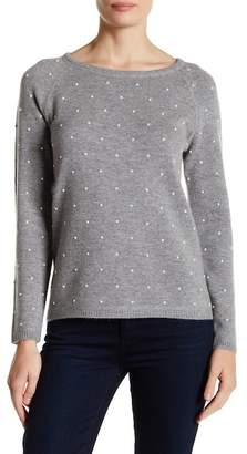 In Cashmere Wool Blend Pearl Pullover Sweater $364 thestylecure.com