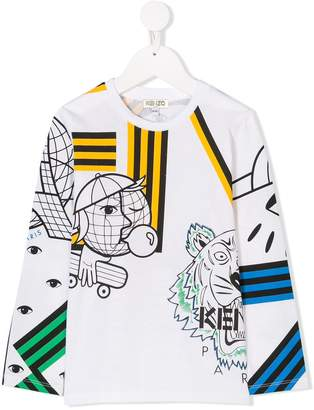 Kenzo printed long-sleeves T.shirt