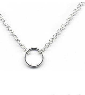 Adina Tiny Circle in Silver