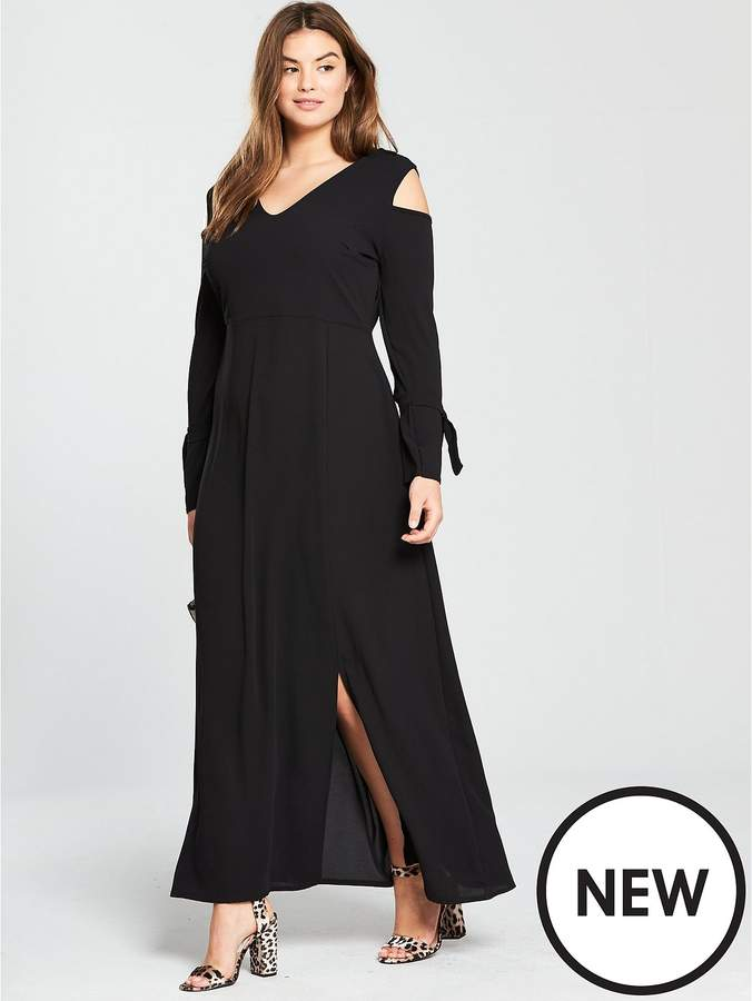 LOST INK CURVE Maxi Dress With Cold Shoulder Sleeve