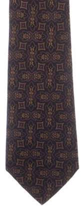 Chanel Abstract Print Silk Tie black Abstract Print Silk Tie