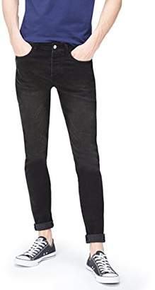 find. Men's Skinny Jeans in 5-Pocket Detail Cropped with Button and zip Closure,W33/L34