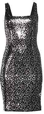 Black Halo Women's Lilo Sequin Sheath Dress - Size 0