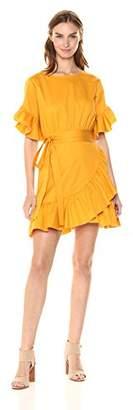 Cynthia Rowley Women's WallFlower Ruffle Tie Dress
