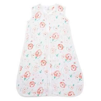 Aden Anais Aden by Aden + Anais Sleeping Bag, 100% Cotton Muslin, Full Bloom - Rose, 6-12 Months