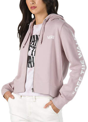 Off The Wall Cropped Zip Hoodie