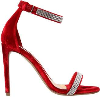 Alexandre Vauthier 100mm Embellished Velvet Sandals
