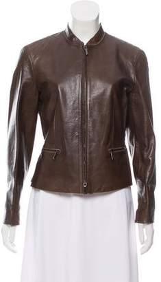 Armani Collezioni Lightweight Leather Jacket