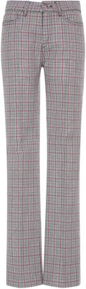 Giambattista Valli Checked Wool-Blend Pants
