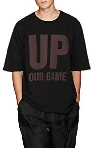 "Katharine Hamnett Men's ""Up Our Game"" Organic Cotton T-Shirt - Black"