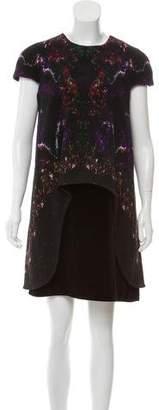 Alexander McQueen Contrasted Velvet Dress