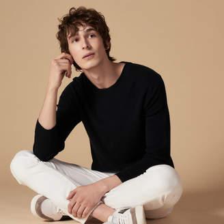 Sandro Fine brioche-stitch sweater