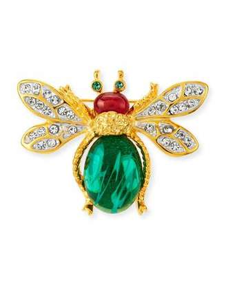 Kenneth Jay Lane Crystal Bee Pin