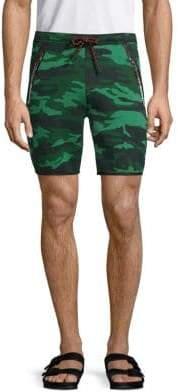 Superdry Camouflage-Print Drawstring Shorts