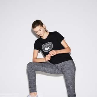 Lacoste Women's SPORT Oversized Logo Design Jersey Tennis T-shirt