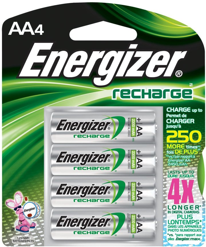 Energizer NiMH Rechargeable Batteries, AA