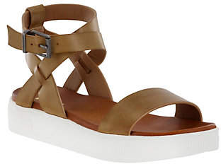Mia Shoes Flat Ankle Strap Sandals - Calla