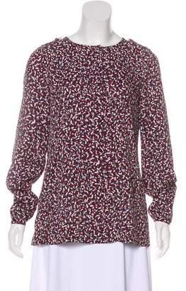 Tory Burch Printed Long Sleeve Top