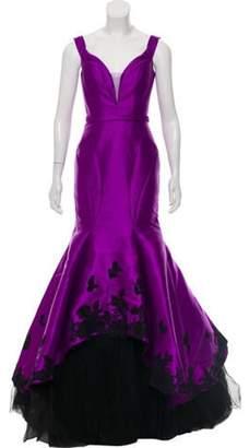 Jovani Satin Lace Mermaid Gown Purple Satin Lace Mermaid Gown