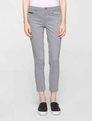 Calvin Klein ultimate skinny garment-dyed ankle jeans