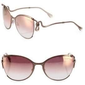 Roberto Cavalli 59MM Mirrored Cat Eye Sunglasses