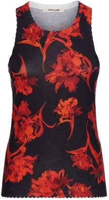 Roberto Cavalli Floral Knit Tank Top