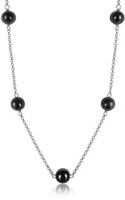 Antica Murrina Veneziana Perleadi Black Murano Glass Beads Necklace
