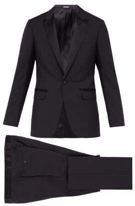 Lanvin Peak Lapel Wool Blend Tuxedo - Mens - Navy