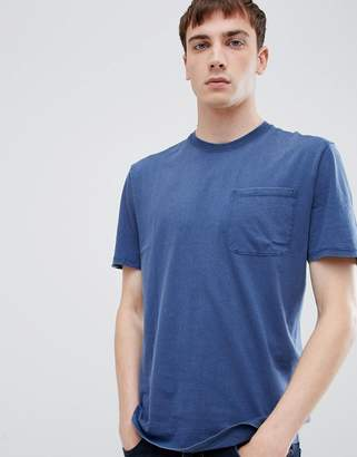 Selected pocket t-shirt in washed jersey
