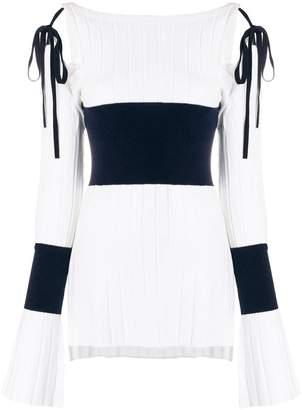 Eudon Choi lace-up detail jumper