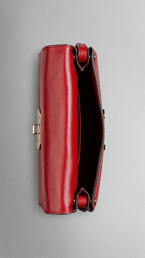 Burberry Small Embossed Check Leather Crossbody Bag 4