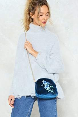 Nasty Gal WANT Cross My Mind Velvet Crossbody Bag