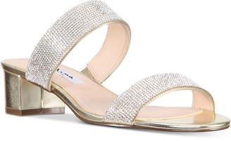 Nina Georgea Rhinestone-Encrusted Slide Sandals