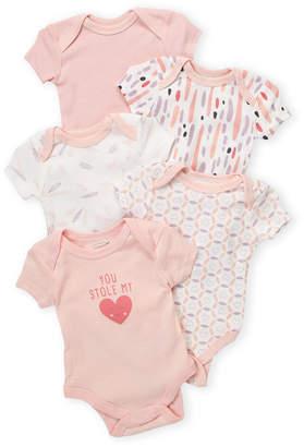 Rene Rofe Newborn Girls) 5-Pack You Stole My Heart Bodysuit