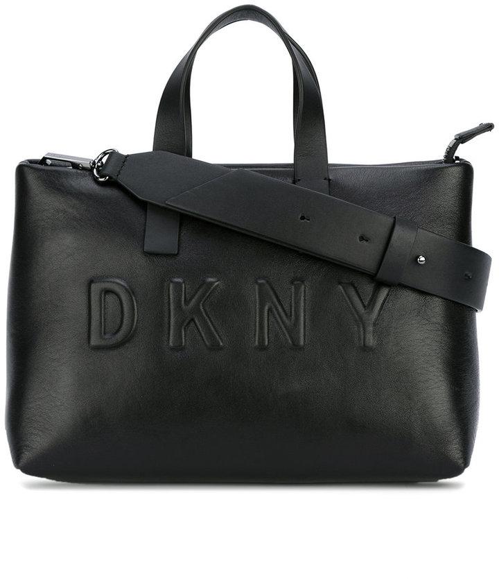 DKNYDKNY debossed logo shoulder bag