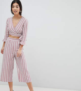 Miss Selfridge Petite Stripe Culotte Cropped Pants