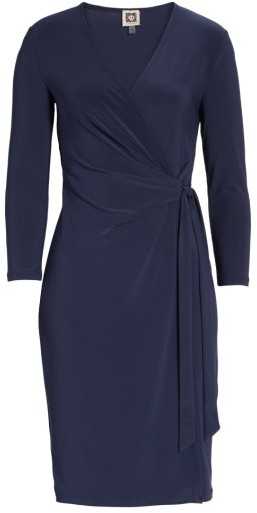 Women's Anne Klein Jersey Faux Wrap Dress 4