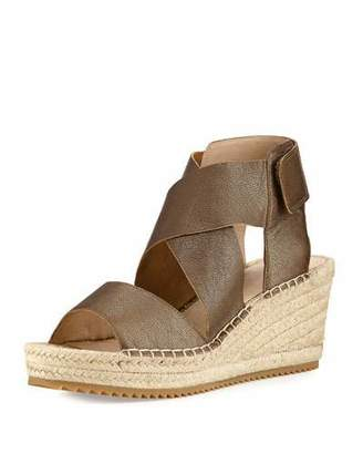 Eileen Fisher Willow Leather Espadrille Sandal $198 thestylecure.com